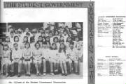 First elected student council officers, Aug 1971